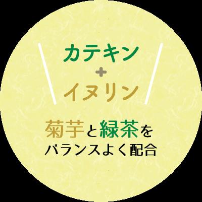 カテキン+イヌリン 菊芋と緑茶をバランスよく配合